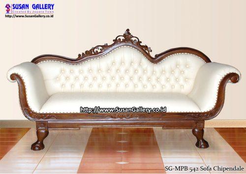 Sofa Bungkus Chipendale Jati