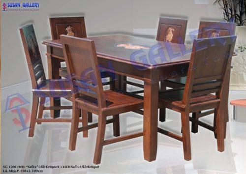 meja makan safira ukir ketupat