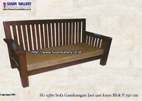Sofa Gambangan Jari jari P.150 cm