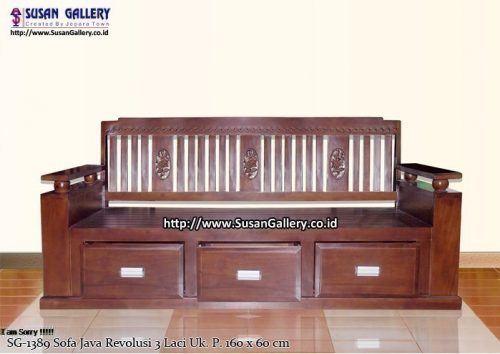 Sofa Jodang Java Revolusi 3 Laci