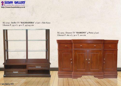 Deswar/Drawer/Buffet TV Jati Harmony