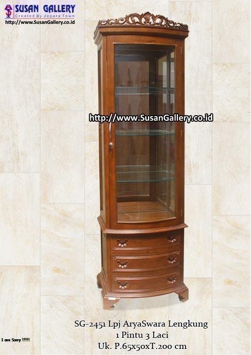 lemari pajang aryaswara lengkung